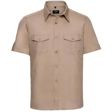 Men`s Roll Short Sleeve Twill Shirt von Russell Collection (Artnum: Z919
