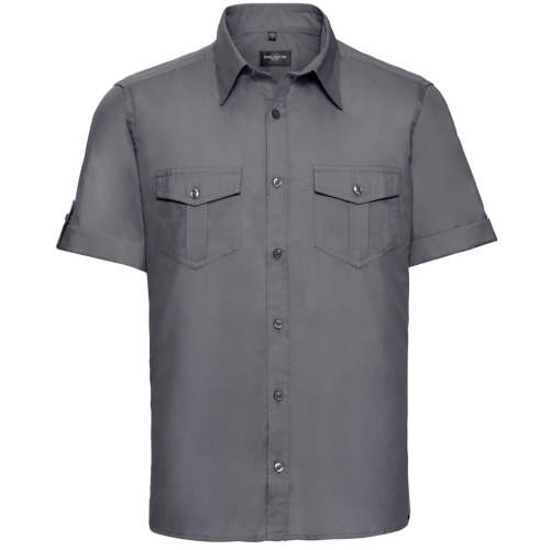 Russell Collection - Men`s Roll Short Sleeve Twill Shirt