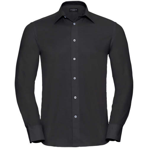 Russell Collection - Men`s Long Sleeve Tailored Oxford Shirt