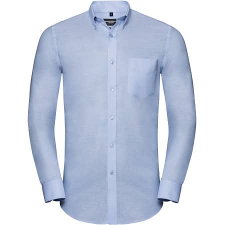 Men`s Long Sleeve Tailored Button-Down Oxford Shirt von Russell Collection (Artnum: Z928