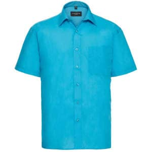 Men`s Short Sleeve Polycotton Poplin Shirt