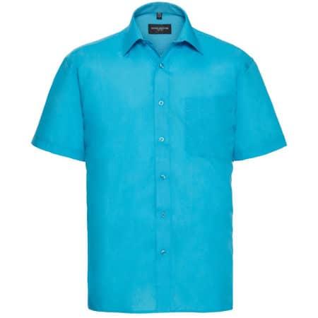Men`s Short Sleeve Polycotton Poplin Shirt von Russell Collection (Artnum: Z935