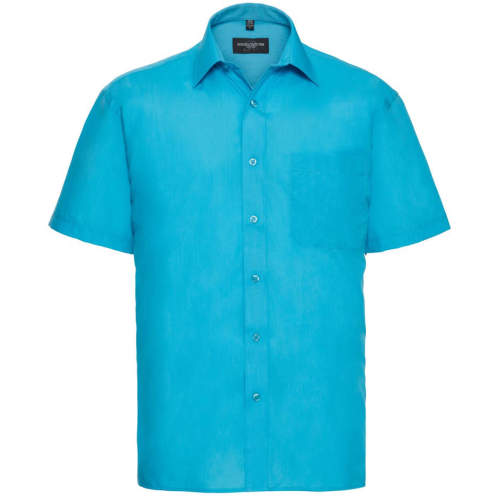 Russell Collection - Men`s Short Sleeve Polycotton Poplin Shirt
