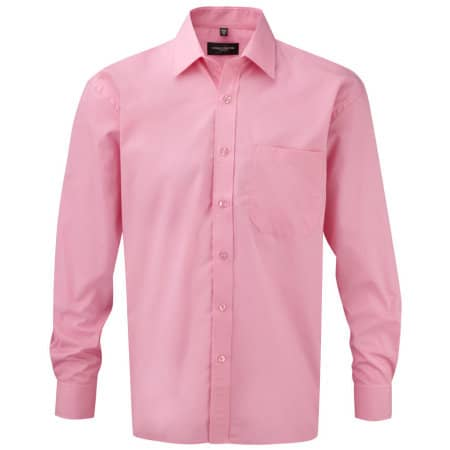 Men`s Long Sleeve Pure Cotton Poplin Shirt von Russell Collection (Artnum: Z936