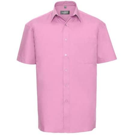 Men`s Short Sleeve Pure Cotton Poplin Shirt von Russell Collection (Artnum: Z937