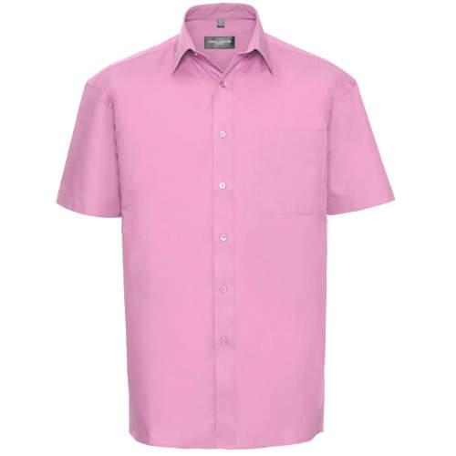 Russell Collection - Men`s Short Sleeve Pure Cotton Poplin Shirt