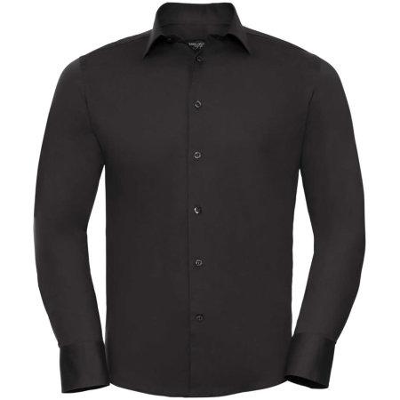 Men`s Long Sleeve Fitted Shirt in Black von Russell (Artnum: Z946