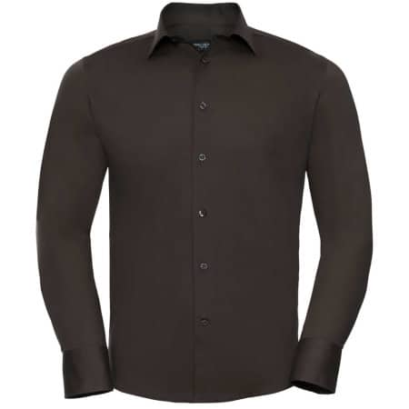 Men`s Long Sleeve Fitted Shirt von Russell Collection (Artnum: Z946