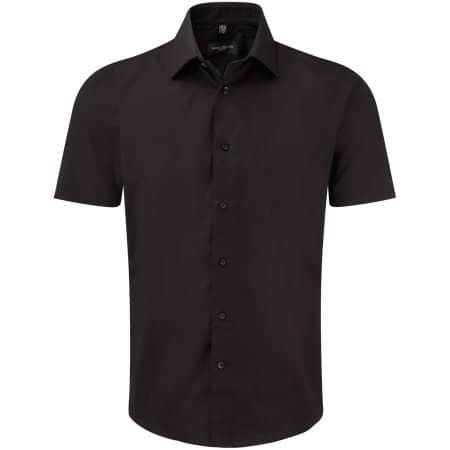 Men`s Short Sleeve Fitted Shirt in Black von Russell (Artnum: Z947