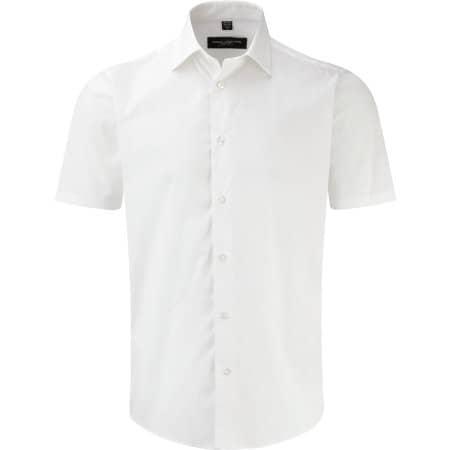 Men`s Short Sleeve Fitted Shirt in White von Russell (Artnum: Z947