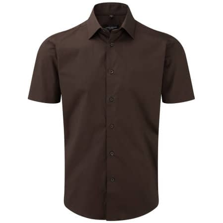 Men`s Short Sleeve Fitted Shirt von Russell Collection (Artnum: Z947