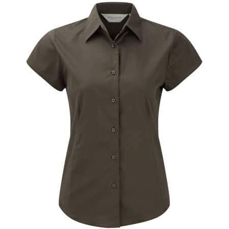 Ladies` Short Sleeve Fitted Shirt von Russell Collection (Artnum: Z947F