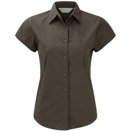 Ladies` Short Sleeve Fitted Shirt von Russell Collection (Artnum: Z947F