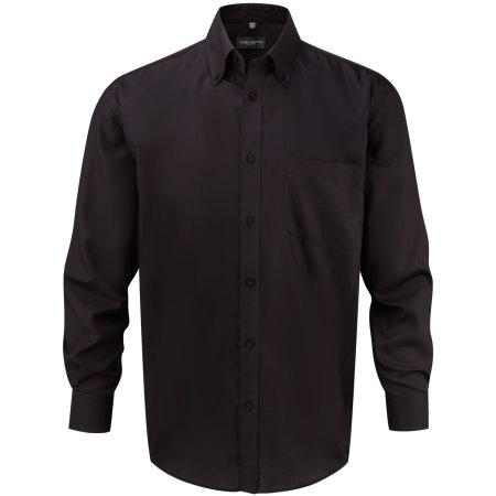 Men`s Long Sleeve Ultimate Non-Iron Shirt in Black von Russell (Artnum: Z956