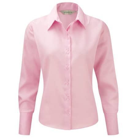 Ladies` Long Sleeve Ultimate Non-Iron Shirt von Russell Collection (Artnum: Z956F