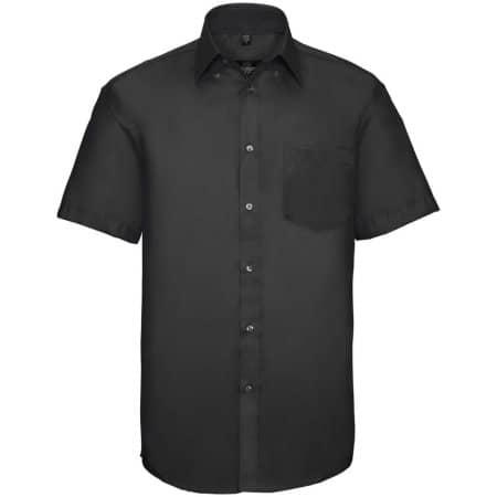 Men`s Short Sleeve Ultimate Non-Iron Shirt in Black von Russell Collection (Artnum: Z957