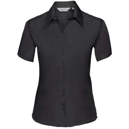 Ladies` Short Sleeve Ultimate Non-Iron Shirt in Black von Russell Collection (Artnum: Z957F
