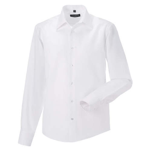 Russell Collection - Men`s Long Sleeve Tailored Ultimate Non-Iron Shirt