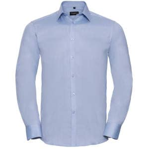 Men`s Long Sleeve Herringbone Shirt