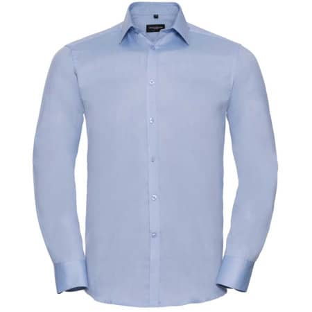 Men`s Long Sleeve Herringbone Shirt von Russell Collection (Artnum: Z962