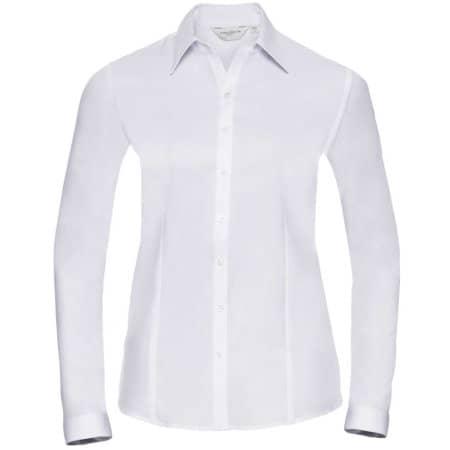 Ladies` Long Sleeve Herringbone Shirt von Russell (Artnum: Z962F