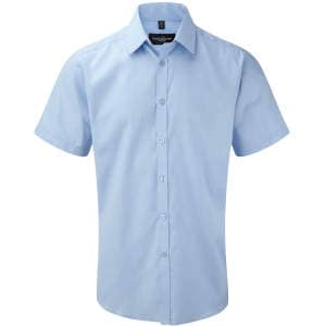 Men`s Short Sleeve Herringbone Shirt