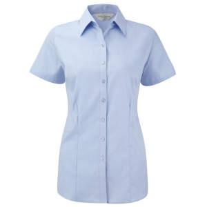 Ladies` Short Sleeve Herringbone Shirt