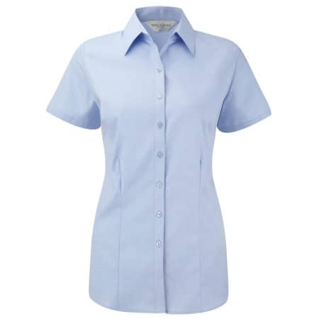 Ladies` Short Sleeve Herringbone Shirt von Russell Collection (Artnum: Z963F