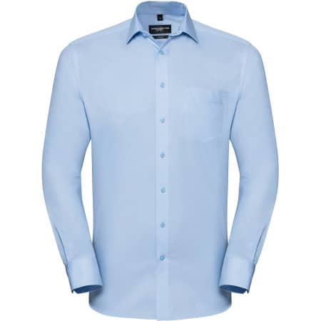 Men`s Long Sleeve Tailored Coolmax® Shirt von Russell Collection (Artnum: Z972