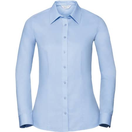 Ladies` Long Sleeve Tailored Coolmax® Shirt von Russell Collection (Artnum: Z972F